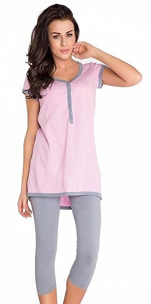 2 en 1 Conjunto Pijama de 2 piezas maternidad & alimentación 100% de algodón 5051: Amazon.es: Ropa y accesorios