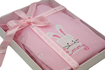 86ed4e7e4783 Personalised Baby Girl Embroidered Applique Sleepsuit Grow Boxed Gift    Ribbon