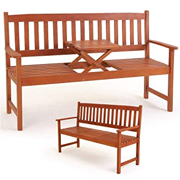Amazon De Deuba Gartenbank Picknick Tisch Fsc Zertifiziertes