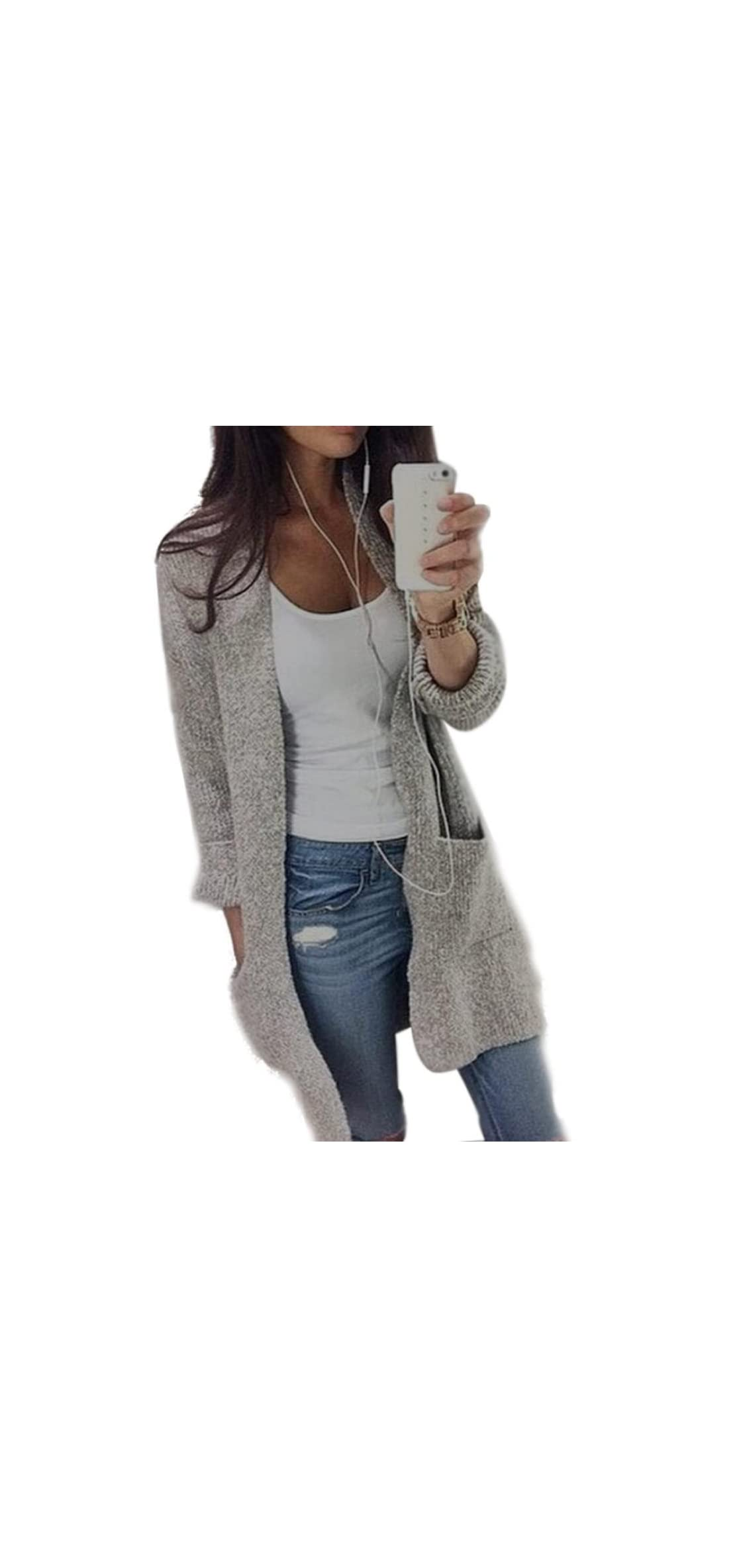 Women Sweaters, Teen Girls Casual Knitted Long Sleeve