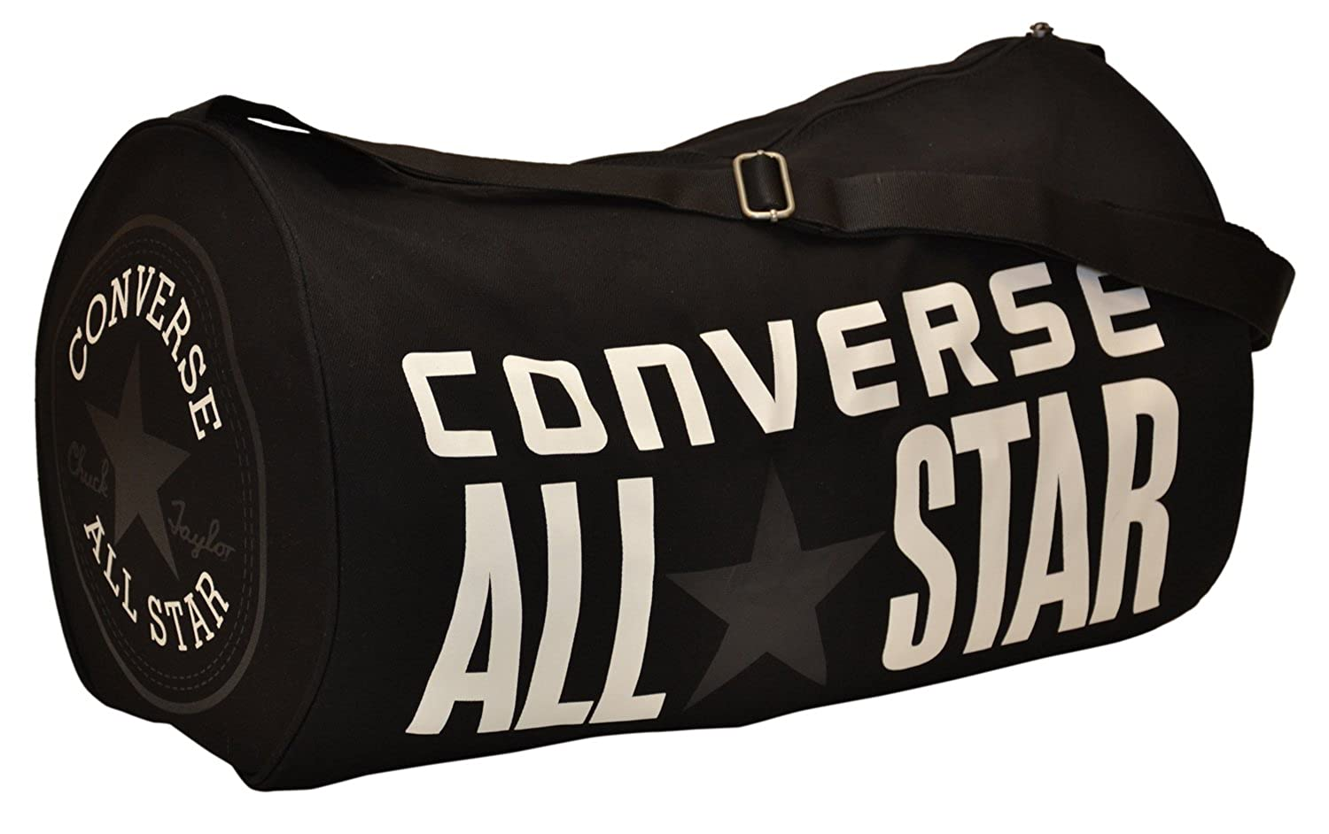 71f8a43d29 Converse All Star Chuck Taylor Duffel Gym Tote Bag-Black/White:  Amazon.co.uk: Clothing