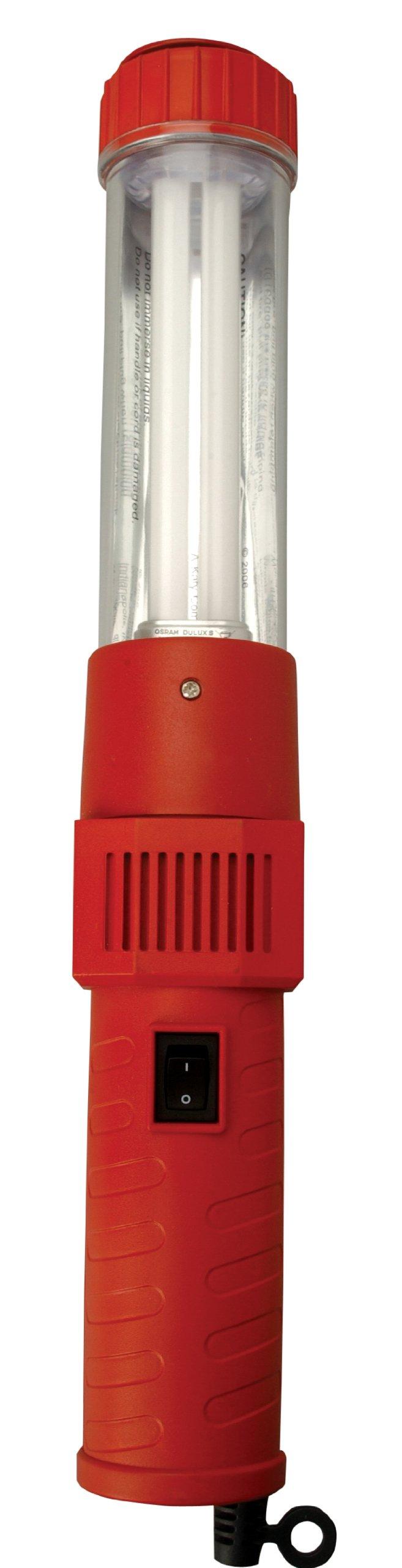 Woods 48044 18/2-Gauge SJTW 13-Watt Fluorescent Work Light, Red, 18-Inch