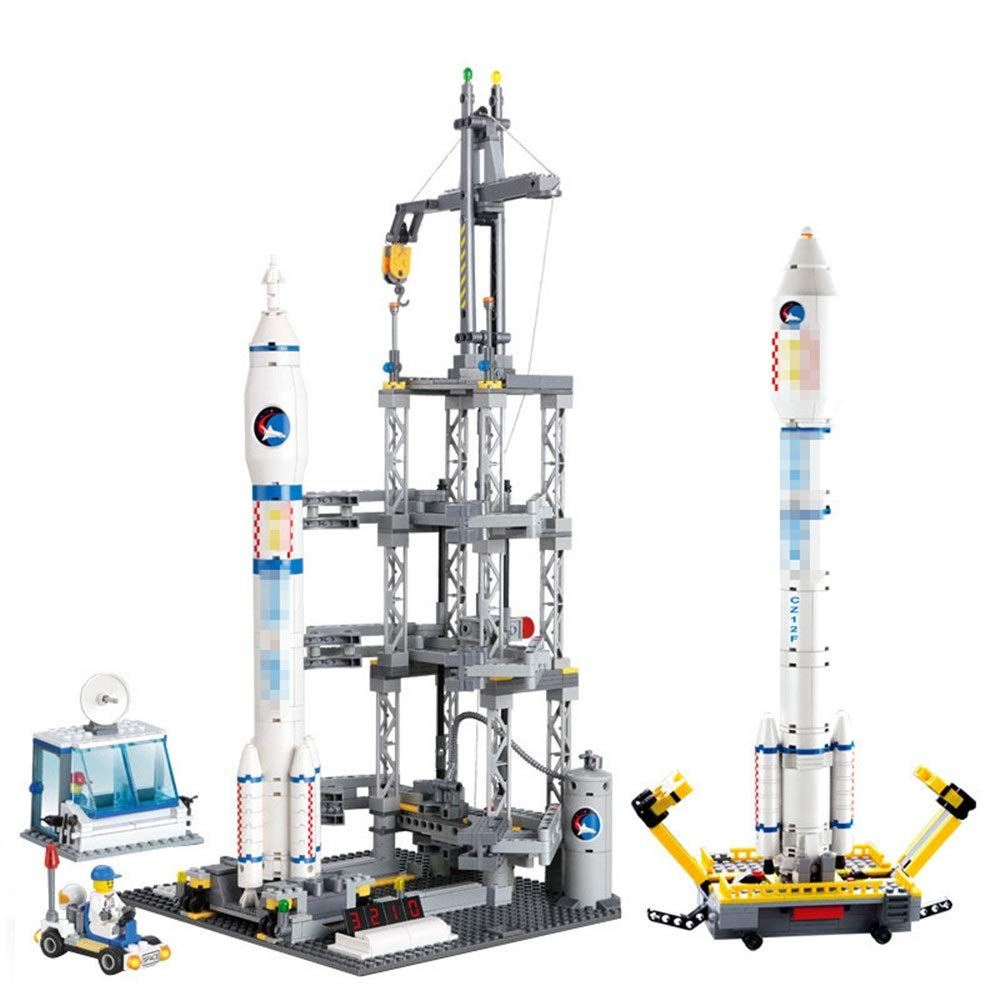 ZnMig Children 3-12 Years Old Rocket Launching Console Assembling Building Blocks Puzzle Children's Toys Early Education Puzzle Building Blocks Toys (Color : Multi-Colored, Size : One Size)