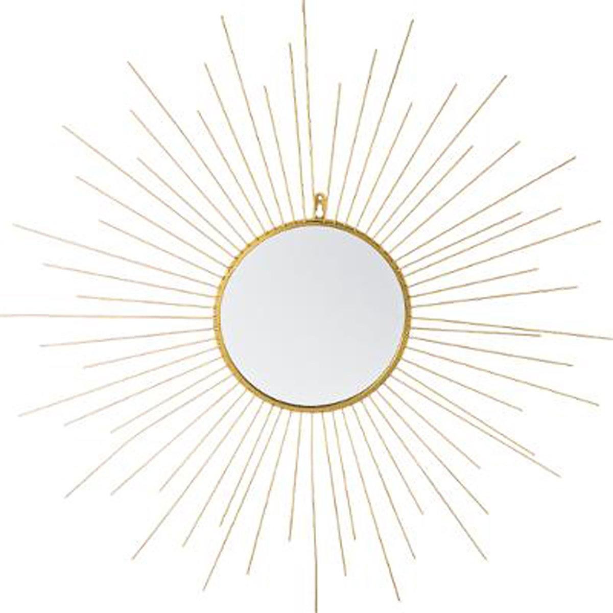 PEGANE Specchio in metallo forma sole, colori oro–dim: L66–X L2,5X h66cm