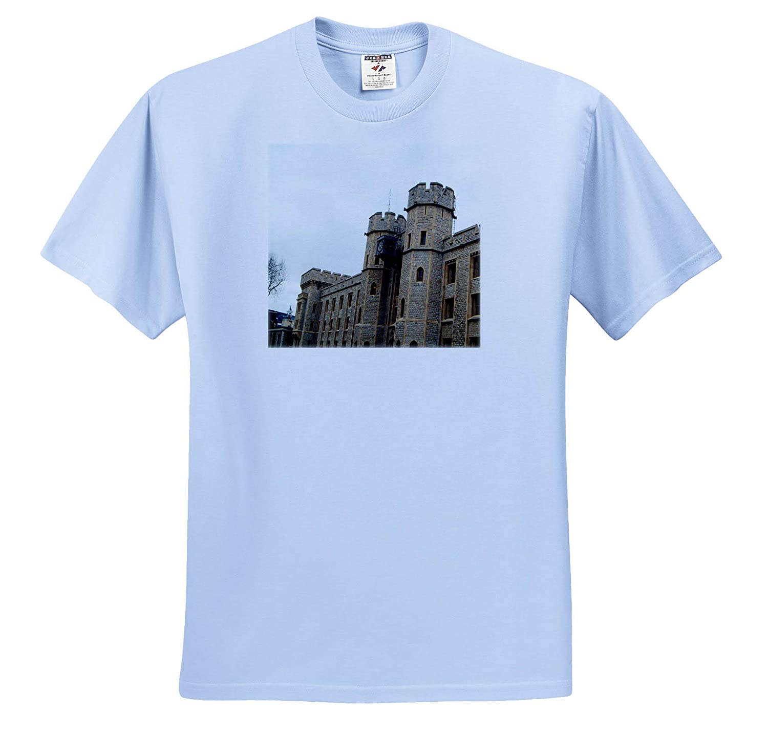 The London Tower Taken from a Side View with Castle Details LondonTower 3dRose Jos Fauxtographee T-Shirts
