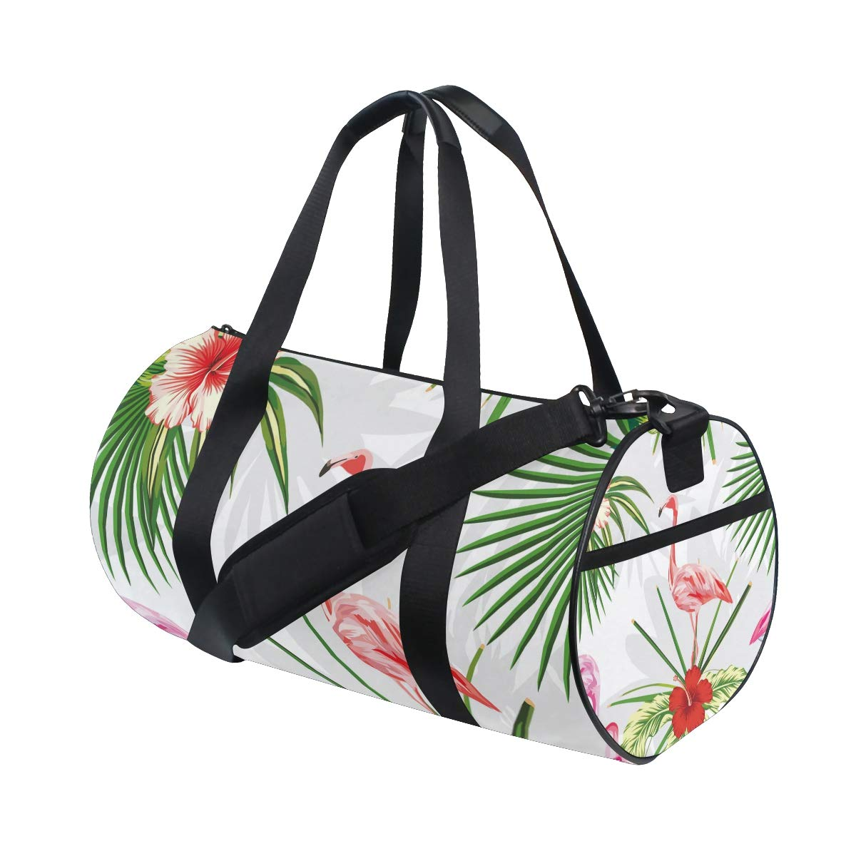 Flamingo Sports Gym Bag Travel Duffel Bag with Pockets Luggage & Travel Gear Shoulder Strap Fitness Bag