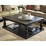 Ashley Furniture Signature Design - Mallacar Coffee Table - Cocktail Height - Rectangular - Black