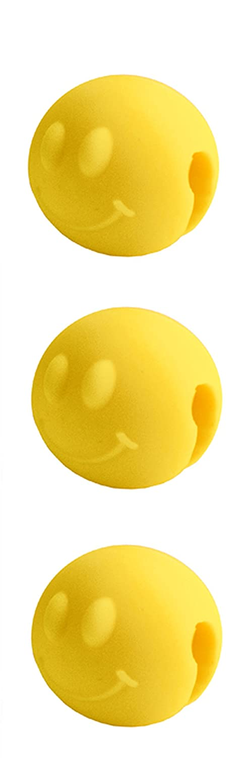 Tovolo Pot Lid Lifts, Smiley-Set of 3, Yellow 81-4429