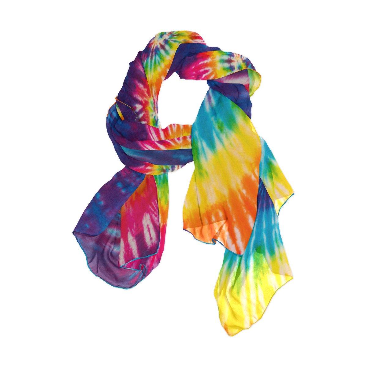 Use4 Fashion Rainbow Color Tie Dye Chiffon Long Scarf Shawl Wrap g1389274p110c124s164