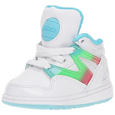 bd85ead6daf24 Reebok Versa Pump Omni Lite - Chaussures Multisport fille - Blanc Bleu Vert