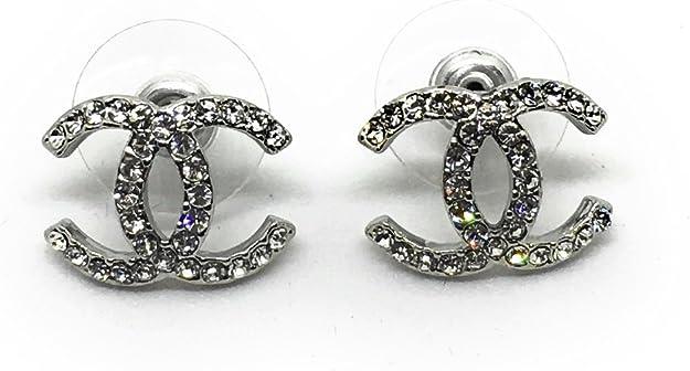 Chanel Boucles D Oreilles Avec Cristaux Amazon Fr Bijoux