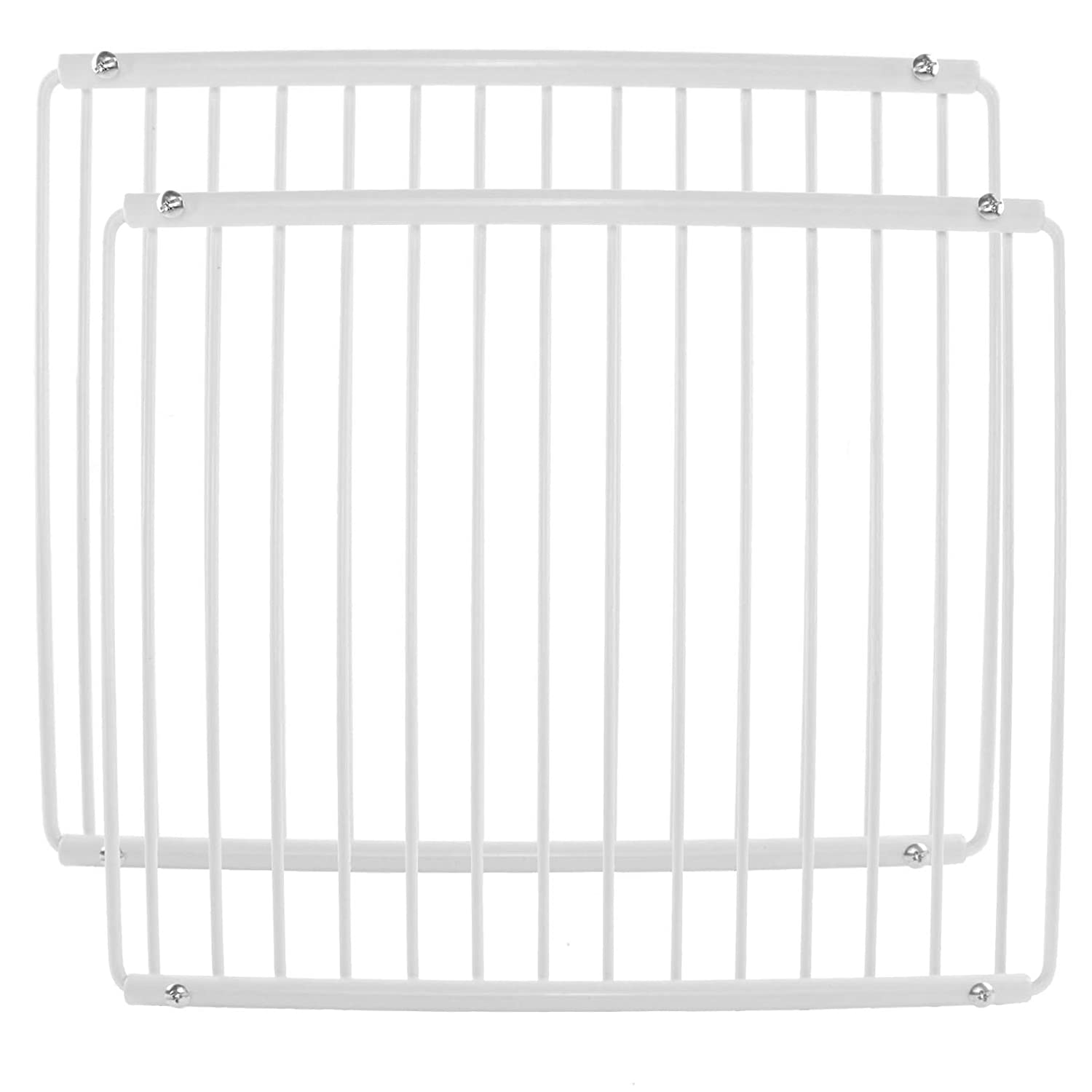 Spares2go Plastic Coated Shelf Rack for Liebherr Fridge Freezers (White, Pack of 2)