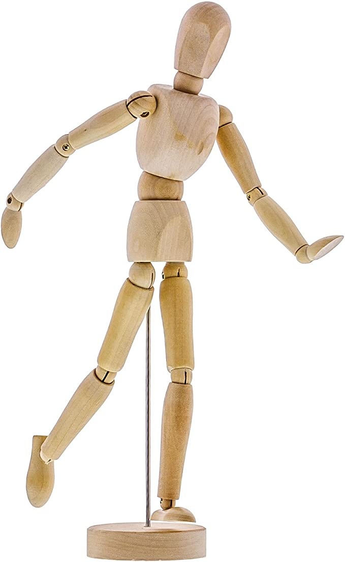 Wood Figures for Teaching Perspective and Form - Varnished   Female   12 Sanded Smooth Creative Mark Wood Figure Manikins
