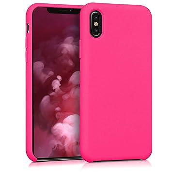 kwmobile Funda para Apple iPhone X - Carcasa de [TPU] para teléfono móvil - Cover [Trasero] en [Rosa neón]