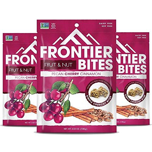 Frontier Gluten Free Snack Bites  Pecan Cherry Cinnamon  3 Count