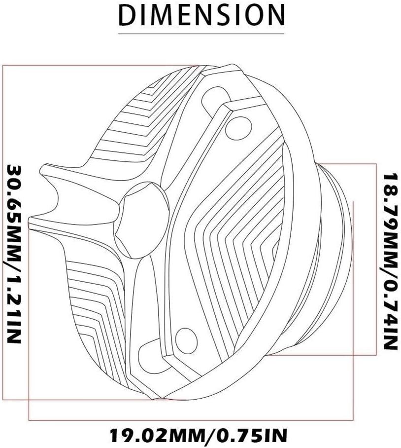Color : Black 2.5 Moto CNC en Aluminium for fiche de vidange dhuile Moteur Vis Bouchon de Remplissage Nut for Suzuki GSF 600 600S 1200 1250 250 Bandit M20