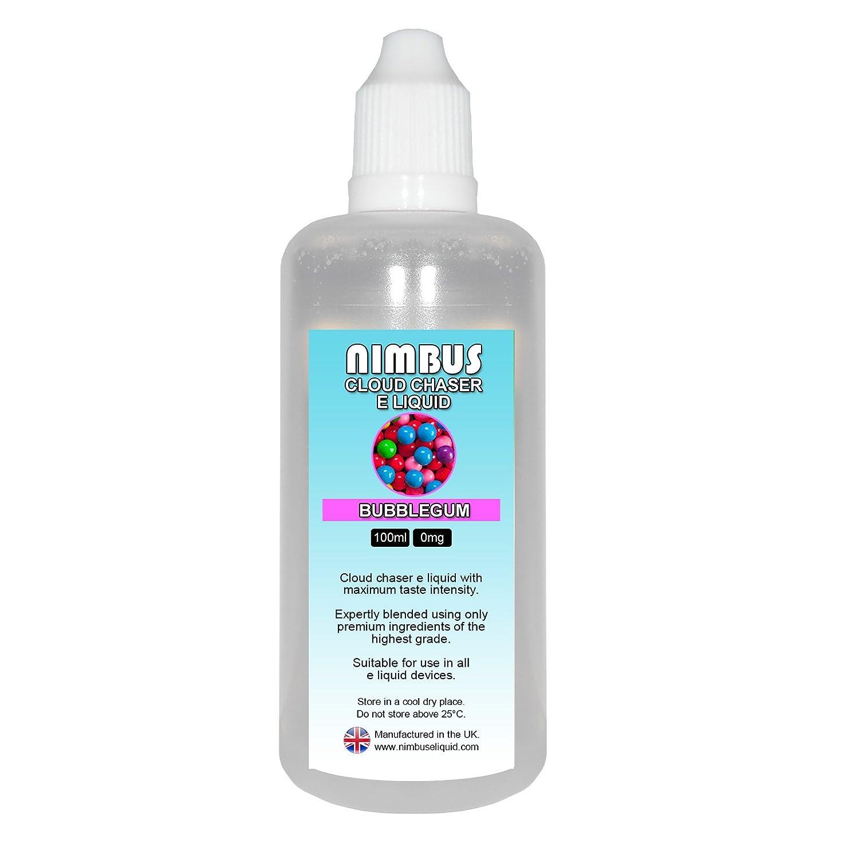 100ml Bubblegum E Liquid 80/20 Cloud Chaser Vape Juice Sub Ohm Juice Shisha  Vape Liquid 0mg eJuice E Cigarette Liquid No Nicotine Ecig Juice (Nimbus E  ...