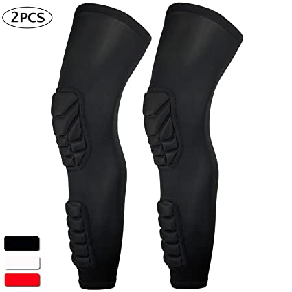 c20af7b279 HOPEFORTH 2 Packs (1 Pair) Knee Calf Padded Compression Leg Sleeve Thigh  Sports Protective