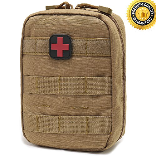 Carlebben EMT Pouch MOLLE Ifak Pouch Tactical MOLLE Medical First Aid Kit Utility ()