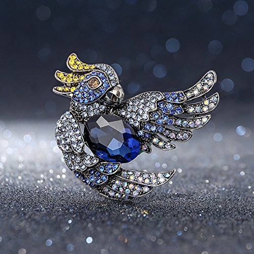 Korean Fashion Bird Ornaments Simple Diamond Brooch Pin Influx Men's Suits Men Sweater With High End Jewelry Brooch Pin Women Girls by Nelswet Jewelry