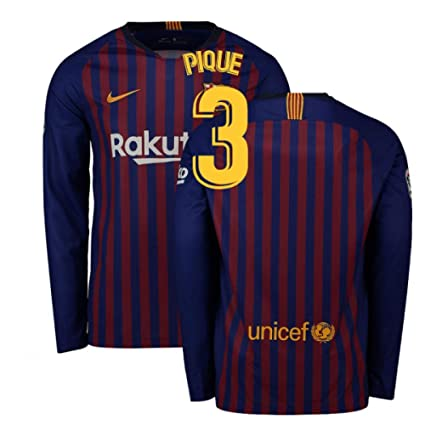 buy popular d6db1 5f160 Amazon.com : 2018-2019 Barcelona Home Nike Long Sleeve ...