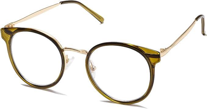 SOJOS Brille Rund mit Blaulichtfiler Herren Damen Blaulicht Brille PC SJ5024
