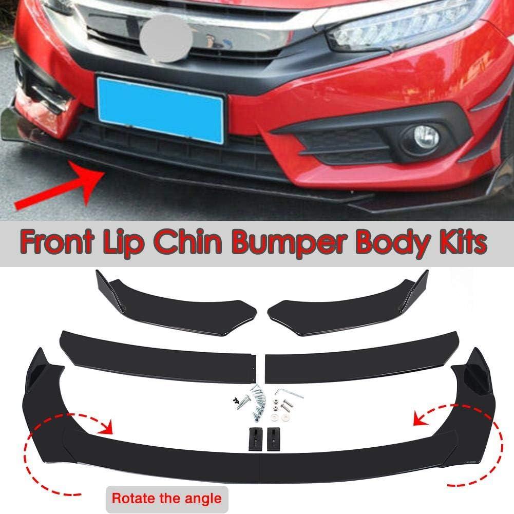 Red-eye Universal Front Bumper Lip Body Kit Spoiler Chin Spoiler Car Front Bumper Splitter Universal Durable Car Front Lip Chin Bumper Body Kit Car Spoiler Decoration