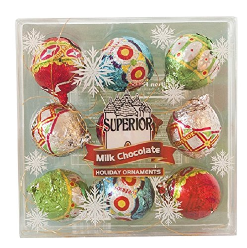 Holiday Milk Chocolate Ornaments Gift (4.5 (Chocolate Ornaments)