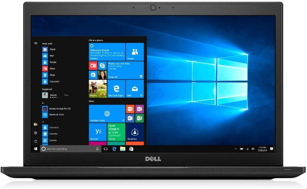 Dell Latitude 7480 14 Inch Business Laptop, Intel Core i7-6600U up to 3.4GHz, 16G DDR4, 512G SSD, HDMI, DP, Windows 10 Pro 64 Bit Multi-Language Support English/French/Spanish(Renewed)