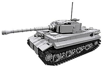 Blue Brixx Panzer Vi Tiger Wehrmacht Wwii Konstruktionsspielzeug Passend Zu Lego Steinen