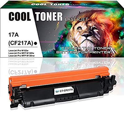Cool Toner 1PK CF217A ( With Chip ) Compatible for HP 17A CF217A Toner Cartridge Replacement for HP M102w HP Laserjet Pro M102w M102a, HP Laserjet Pro MFP M130fw M130 M130fn M130nw M130a Toner Printer