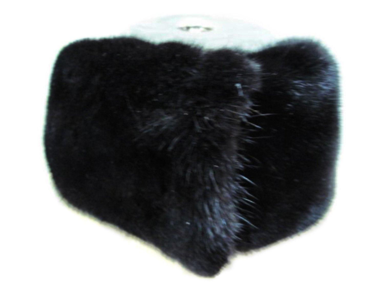 4 In Wide Blackglama Mink Headband, Neck Warmer & Collar