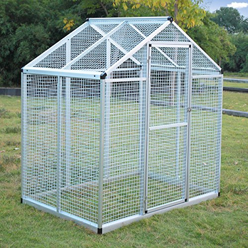 Heavy Duty Bird Cage Parrot Walk In Aviary Play Top LARGE Pet House White New by Tumsun
