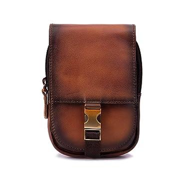 Bolsa de piel para cinturón de hombre, funda para cinturón de celular, bolsa para colgar cinturón, pequeño bolso de viaje cruzado para regalo de día
