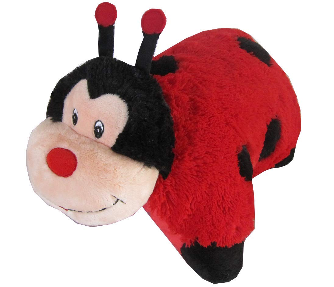 Lady Bug Zoopurr Pets 2-in-1 Stuffed Animal and Pillow Large 19 Ultra Soft with Embroidered Eyes by ZooPurrPets