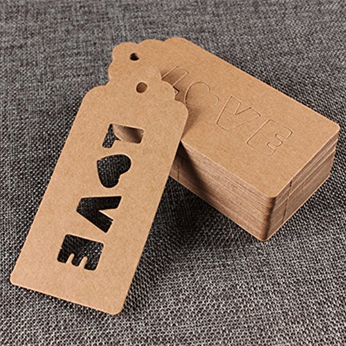Kraft Paper Christmas Gift Tags with Hanging Hole Wedding Favor Decorative Hang Tags Festival Crafts Supplies Bonbonniere Merchandise Bookmark Love Note 4.7x10cm (1.8x3.9 inch) (1200 Pieces, Brown) by BAT Pack
