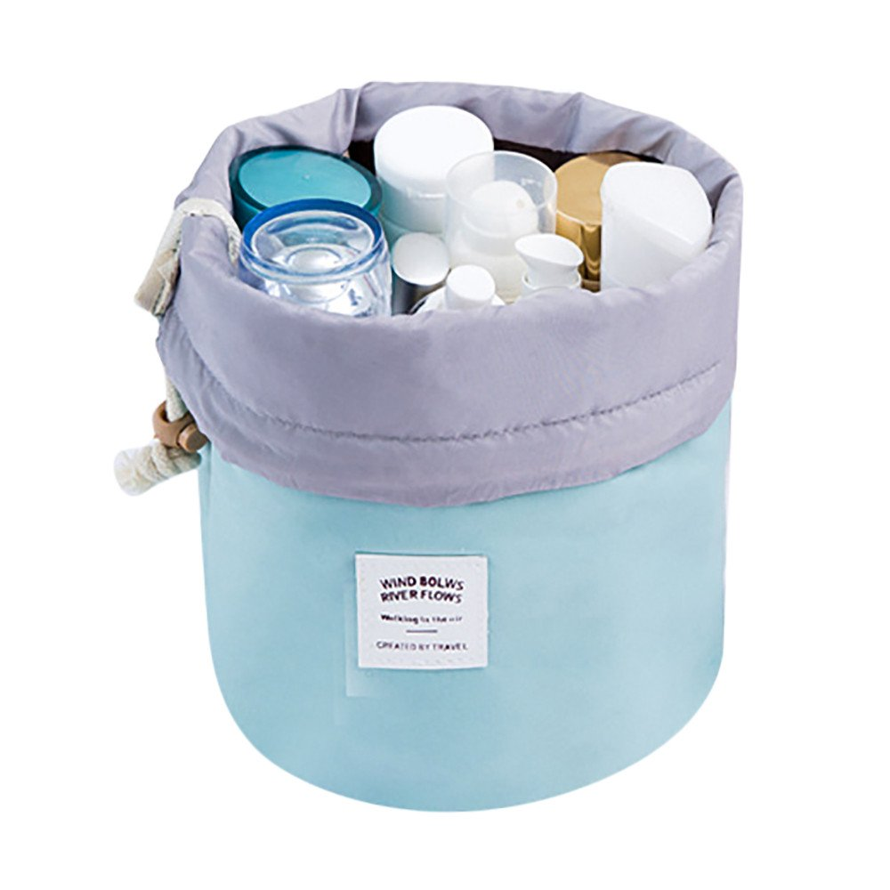 Serzul Cosmetic Jewelry Wash Hanging Toiletry Makeup Travel Storage Bag Case (Light Blue)
