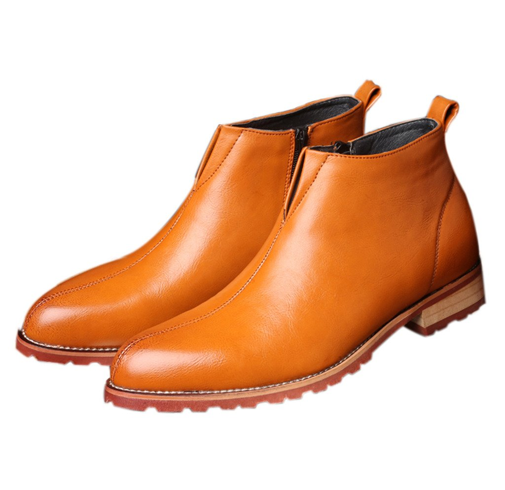Santimon Men's Chelsea Side Zipper Boot Fashion Simple Outdoor Indoor Ankle-high  Boot Chukka British Style Causal: Amazon.ca: Shoes & Handbags