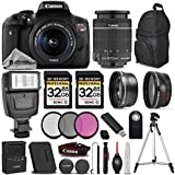 Canon EOS Rebel T6i / 750D DSLR Camera + Canon EF-S 18-55mm f/3.5-5.6 IS STM Lens + 64GB Storage + 3PC FILTER KIT - All Original Accessories Included - International Version