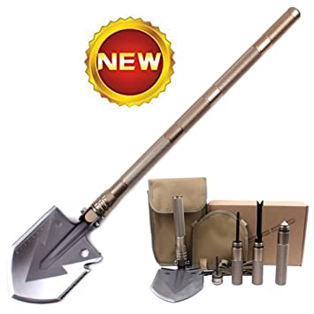 RZX compacto al aire libre plegable Pala con cuchillo y Fire ...