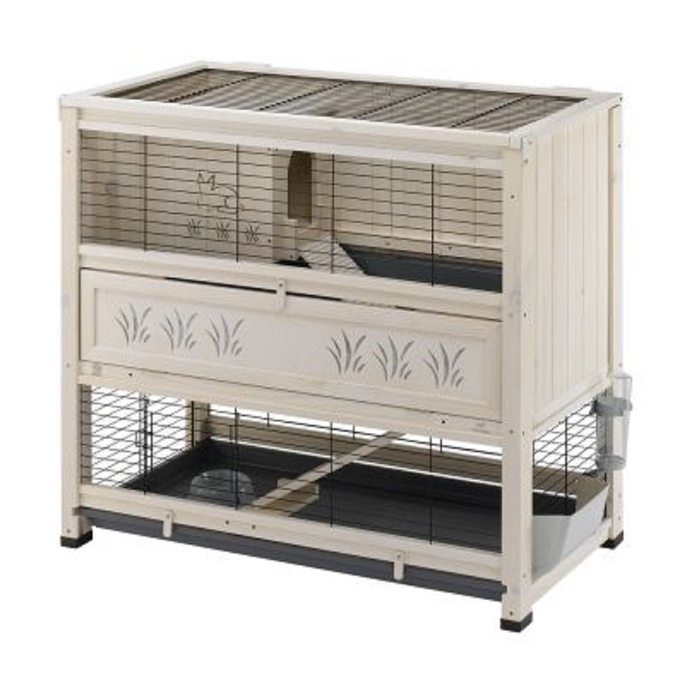 Excellent Indoor hutch wooden two levels cottage style stylish rabbits  ZI74