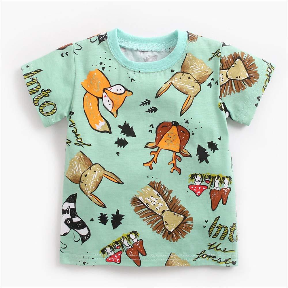 Pantalones Cortos de Color Liso Conjunto de ropa//2pc FELZ Ropa Bebe Ni/ño Ni/ña Verano Reci/én Nacido 0 Meses a 3 A/ños Casual Camiseta Estampada de Dibujos Animados de Manga Corta