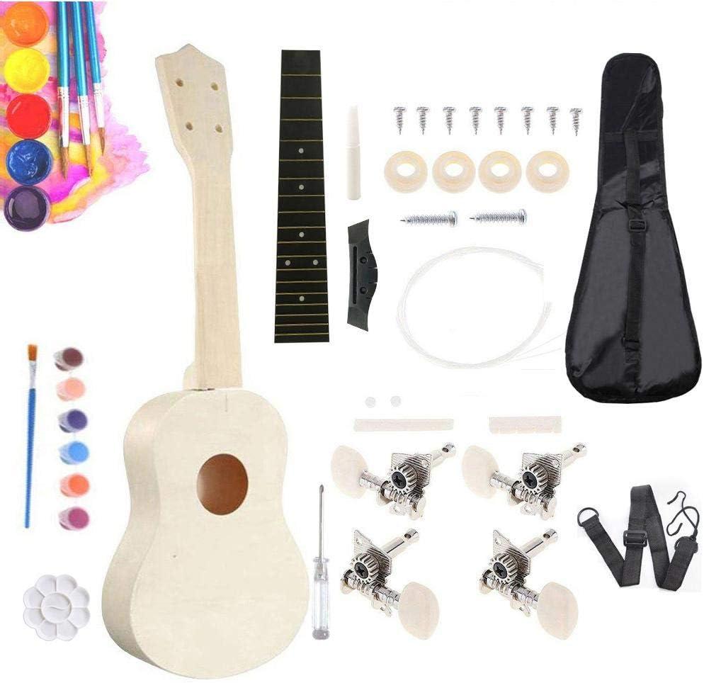 Ukelele De 21 Pulgadas, Kit De Ukelele DIY Guitarra Pequeña De ...