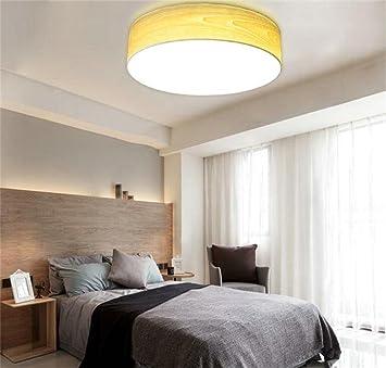 Deko Deckenleuchten Einfache Moderne Wohnzimmer Elternschlafzimmer Den Gang  Holz Runden Kreativen LED Decken Stilvolle