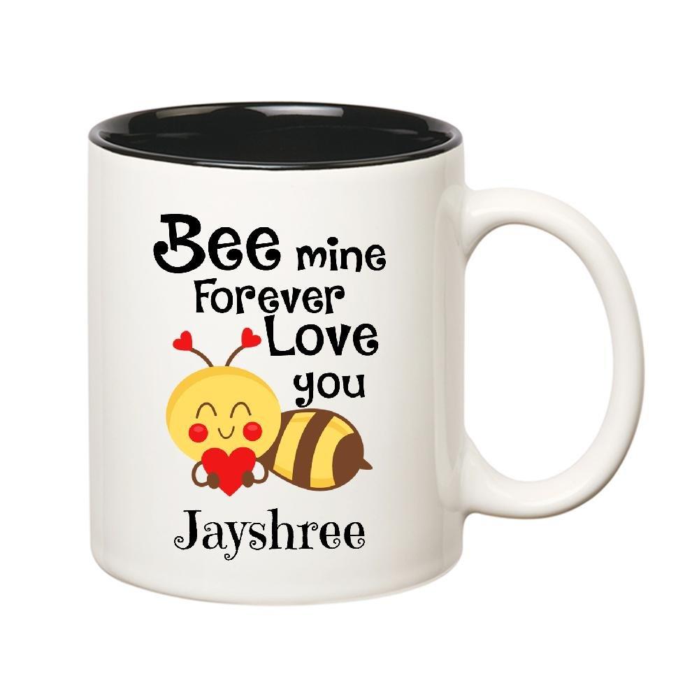 Buy Huppme Love You Jayshree Bee mine Forever Inner Black Mug Online ...