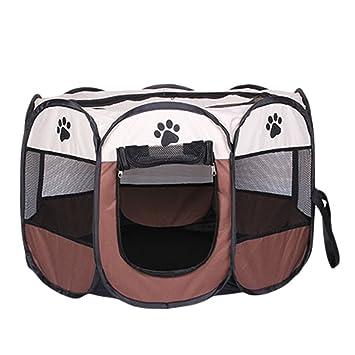 Cayuan Parque para Mascotas Octágono Plegable Jaula Perro Gato Portátil Interiores y Exteriores Caseta Impermeable Transpirable: Amazon.es: Productos para ...