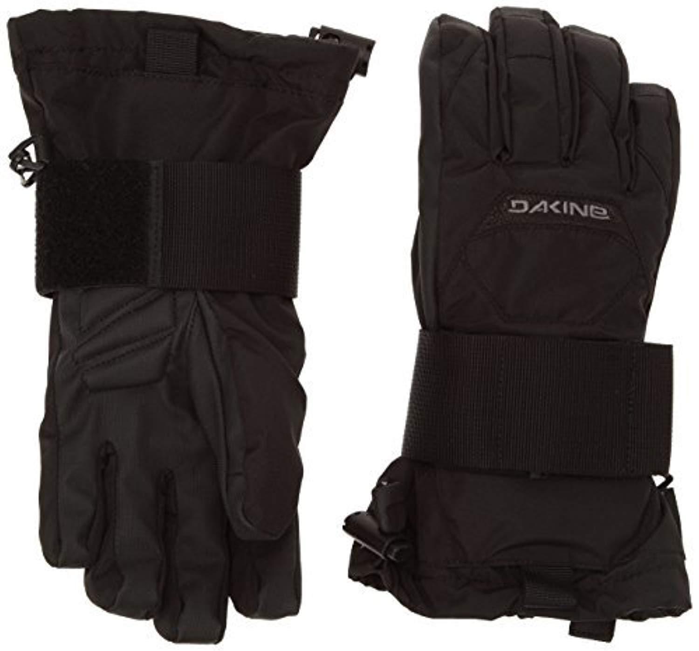Winter Bundle: Dakine Youth Wristguard Jr Glove Black K/X & Knit Cap