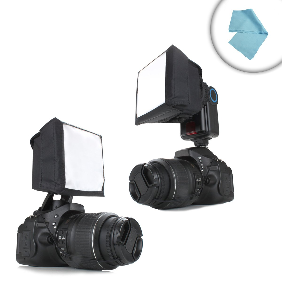 ENHANCE Camera Popup Softbox Flash Diffuser with Portable, Foldable Design for Flashes and External Speedlites - 3.75 Inches - Works With YONGNUO, NEEWER, Altura and more Speedlites
