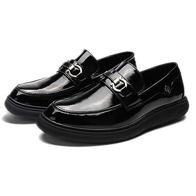 Xianshu Hombres Charol Mocasines Ponerse Zapatos: Amazon.es: Zapatos y complementos