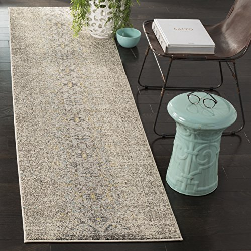 Safavieh Monaco Collection MNC209G Modern Abstract Vintage Grey and Multi Distressed Runner Rug (2'2
